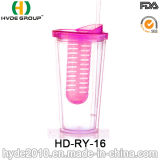 Promotional Plastic Tumbler Infuser Cup with Straw