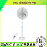 Hot Sale Rechargeable Solar Fan 16 Inch 12V Stand Fan with LED Light