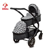 Baby Stroller with Frame and Small Seat and Small Carrycot