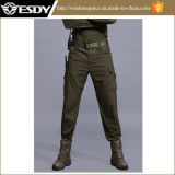 Green Outdoor Combat Multi-Pockets Wear-Resistant Military Pants with Double-Knee Design