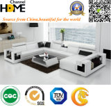 Chinese Modern Furniture Sectional Living Room Leisure Leather Sofa (HC1012)