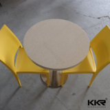 Customized Artificial Stone Food Court Restaurant Round Table