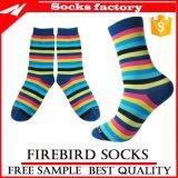 Women′s Stripe Breathable Soft Cotton Casual Socks and Custom Socks