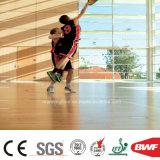 Wearable Indoor Oak Basketball PVC Vinyl Flooring Roll Wood Pattern 6.5mm