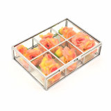 Wholesale Clear Acrylic Rose Flowers Display Boxes