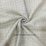 Sliver Yarn White Check with Shiner Wool Fabric Stock
