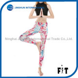 Beautiful Flowers Printed Slim Women Leggings Breathable Sports Pants