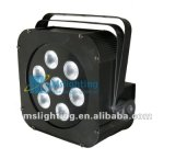 9*3in1 RGB Tricolor LED Plat PAR Light with Battery 5-6hours