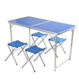 Outdoor Aluminium Alloy Folding Table, Foldable Picnic Table