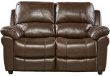 Top-Grain Leather Reclining Sofa