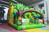 New Design Forest Theme Bouncer Inflatable Dry Slide for Event