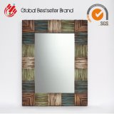 Wooden Vintage Mirror-Rectangle MDF Mirror Wall Art (LH-M17016)