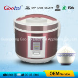 Square Panel Deluxe Rice Cooker with Pink Color Stainless Steel