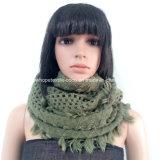 Acrylic Lady Fashion Knitted Neck Scarf with Fringe