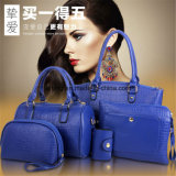 Women Bag PU Leather Handbag Shoulder Message Bag Purse 5-PCS