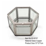 Wholesale Fashion Handmade Metal Glass Jewelry Box for Romantic Wedding