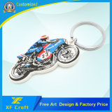 Professional Factory Customized PVC Rubber Motor Bike Key Ring for Promotion (XF-KC-P27)