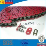 High Quality O-Ring Motorcycle Chain with Red Plates