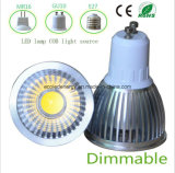 Dimmable 3W White GU10 COB LED Light