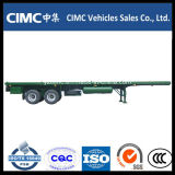 Cimc 2 Axles Flatbed Trailer for Sale