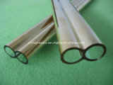Excellent Quality Gold Coated Quartz Glass Twin Tube