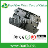 Black Optical Fiber Splice Tray