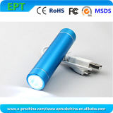 Portable Mobile Charger LED Torch Power Bank 2600mAh