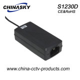 12VDC Desktop Type CCTV Power Adaptor with Ce & IEC60950 (S1230D)