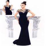 Custom Made Applique Balck Mermaid Evening Dress