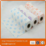 Different Printing Style Needle Punched Nonwoven Fabric Wipe Roll