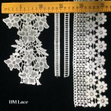 Hm Lace Factory Outlet Embroidered Africa Cotton Lace Trim Offwhite