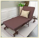 Rollaway Guest Bed with Brown Color Mattress 190*80cm/Home Furniture