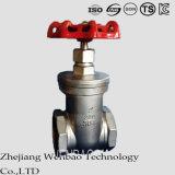 ANSI Casting Stainless Steel Female Thread Medium Temperture Gate valve