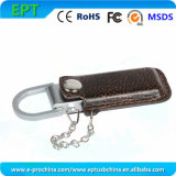 Embossed Logo Leather Flash Disk USB Drive for Promotion (EL006)