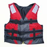 Red Gray Color Three Buckles Life Jacket with 3m Reflector