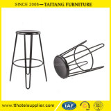 High Seat Backless Round Bar Stool