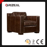 Orizeal 1930s Deco Design Collins Nailheads Genuine Leather Chair (OZ-LS-2022)