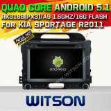 Witson Android 5.1 Car DVD GPS for KIA Sportage R2011 with Chipset 1080P 16g ROM WiFi 3G Internet DVR Support (A5743)