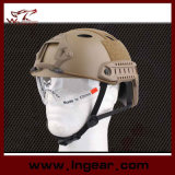 Tactical Pj Safety Helmet Combat Military Helmet with Clear Visor