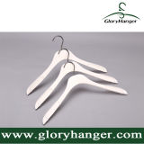 Fashion White Anti Slip Clothes Hanger with Matel Hook