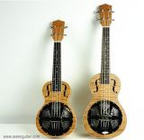 BV/SGS Certificate Supplier---China Aiersi High Quality Okoume Body Resonator Ukulele with Aquila String
