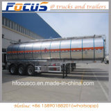 45000 Liter Gasoline Fuel Storage Tranker Trailer Aluminum Alloy Steel Made