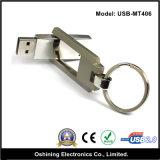 Free Logo Reversal Metal USB Drive with Keychain (USB-MT406)