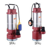 SPA Series Stainless Steel Water Pump for Dirty Water with Float Switch 1.1kw/1.5HP