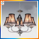 Metal Stained Gold with Fashion Fabric Shade Pendant LED Chandeliers