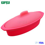 Oval Shaped Silicone Kitchenware Heat Resistant Food Steamer Without Insert