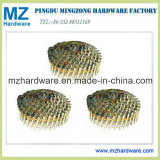 Yellow Zinc Plated Wire Coil Roofing Nail