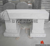 American Style Grey Stone Bench Memorial / Cemetery Monument