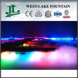 Colorful Lights Artificial Fog/Mist Fountain Floating on The Lake