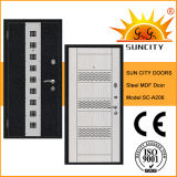 Russian Style Wooden Steel Door with MDF Board (SC-A206)